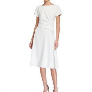 Kay Unger white a-line dress